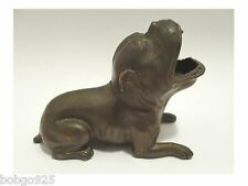 English Bulldog Figurine / Cigar Rest Holder Jennings Brothers Dog  Figure JB
