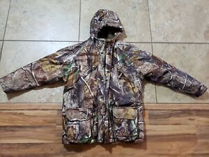 Cabelas for Kids Realtree Camo Hooded Coat Jacket Medium Regular EUC