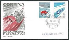 1966 ITALIA BUSTA SPECIALE ROMA MONDIALI DI BOB 2° GIORNATA BOB A DUE  - EDG19