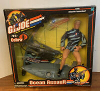 "2001 GI Joe vs Cobra - Ocean Assault with Wet Suit & Missile Launcher 12"" New"