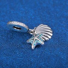 2d126fbfa Authentic Pandora Slive Tropical Starfish & Sea Shell Charm #792076CZF
