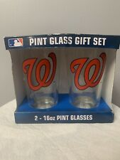 Washington Nationals Pint Glass Gift Set/2- 16oz Pint Glasses