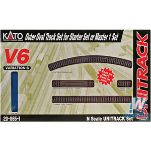 Kato 20865-1 Unitrack Outer Oval Track Variation 6 Starter or Master Set N Scale