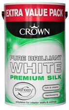 Crown soie émulsion 6L pur peinture blanc brillant pour les murs et plafonds