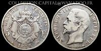 5 Francs 1856BB Napoléon III Côte TB 80€ TTB 180€ Argent