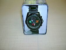 Rare Justice League Mens Watch Black 40mm Superman Batman Green Lantern & Flash