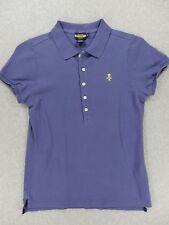 Polo Ralph Lauren RUGBY Short Sleeve Polo Shirt (Womens Medium) Purple