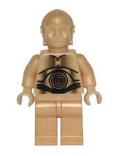 Lego C-3PO 10144 4475 7190 4504 Pearl Light Gold Star Wars Minifigure