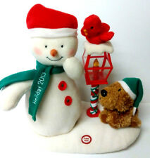 2013 Hallmark Christmas Plush Snowman Merry Carolers Trio Jingle Pals *VIDEO*