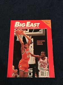 BIG EAST BASKETBALL 1987 1988 YEARBOOK Derrick Coleman Cover Syracuse