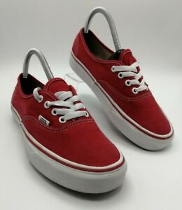Vans Classic Low Red Canvas Trainers - UK Size 5 - VGC