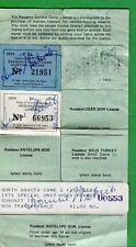 NORTH DAKOTA 1974 Resident General Game License #15 + Small game & Deer - 532