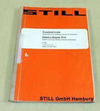 Ersatzteilliste STILL R 14 , EFG 3 / 1435 Elektro Gabelstapler Stapler