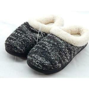 Dearfoams Memory Foam Women's Grey Slipper 5-6M Small