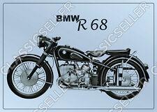 BMW R 68 R68 Motorrad Poster Plakat Bild Kunstdruck Literatur Affiche Deko Foto