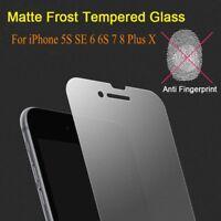 iPhone 6s 7 8 Plus Xs Max Matte Frost Tempered Glass Film Anti-Glare&Fingerprint