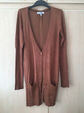 Bershka Ladies Burnt Orange Cardigan-Size S