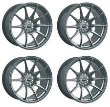 "XXR 527 17"" x 8.25J 4x108/114 BLACK CHROME MASSIVE WIDE RIMS ALLOYS WHEELS Z1245"