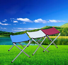 Portable Folding Chair Aluminium Alloy Fishing Camping Backpacking Picnic Stool