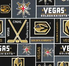 NEW NHL HOCKEY VEGAS GOLDEN KNIGHTS FLEECE FABRIC BLANKET BY THE 1/2 YARD CRAFTS