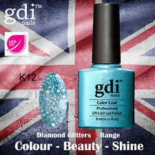 GDI Nails Diamond Glitters K12 Aqua Sparkle UV LED Soak off UK GEL Nail Polish