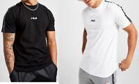 Fila Men Cotton Crew neck Short Sleeve Retro Logo Tape T shirt Top Tee S M L XL