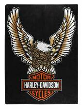 Harley-Davidson Fly High Large Raschel Throw Blanket, 60 x 80 inch Nw117355