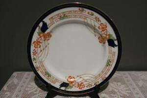 Vintage Alfred Meakin Dinner Plate - Corinth - Floral - Blue Gilt Border - Rc