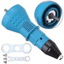 Electric Rivet Nut Gun Cordless Riveting Drill Adaptor Insert Tool + Wrench Set
