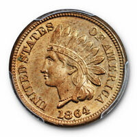 1864 1C Copper-Nickel Indian Head Cent PCGS MS 63 Uncirculated US Type