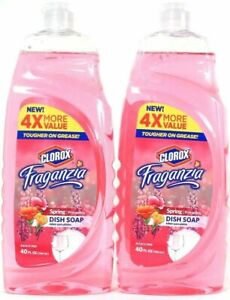 (Pack of 2) Fraganzia Spring Tough On Grease Dish Soap 40 Oz