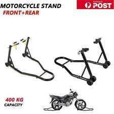 2 in 1 Motorcycle Bike Race Stand Front or Rear Motorbike Lift Carrier Red