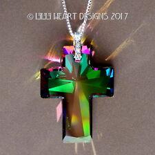 m/w Swarovski RARE Brilliant ELECTRA Cross Sterling Pendant Lilli Heart Designs