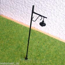 10 pcs O gauge Model Lamppost 12V Street lights Layout Scenery Metal Lamp #R34-O