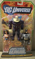 DC UNIVERSE JUSTICE LEAGUE UNLIMITED MONGUL BATMAN WONDER WOMAN 3-PACK *NEW*