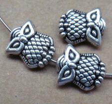 20pc Tibetan Silver Charms 2-Sided Owl Spacer Beads Accessories Findings BPJ0127