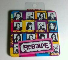 REBELDE Pink Purple Multi Photo Miguel Mia Giov Lup Diego Roberta MAGNET As-Is
