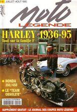 MOTO LEGENDE  49 HARLEY DAVIDSON F FL FLH FLHT HONDA CB 350 450 BENELLI 50