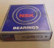 NSK Bearings NJ208ETC3 Cylindrical Roller Bearing 40 x 80 x 18 mm