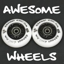 Ripstik Ripstick Skate Wheels x2 76mm LED Light Emitting White PU inc bearings