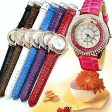 Women Lady Quartz Analog Dial Bling Crystal Decoration Dress Wrist Watch 2018 SS Blue