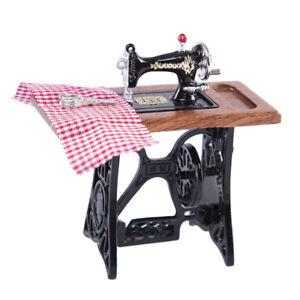 1/12 Scale Dollhouse Vintage Sewing Machine Miniatures Furniture Model Decor