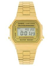Casio A168WG-9 GOLD Stainless Steel Digital Casual Watch Alarm Stopwatch NEW