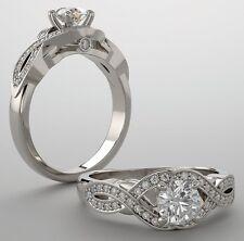 0.81 ct Round Diamond Engagement Wedding 14k White Gold Ring G SI1 1.21 tcw