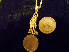 bling gold plated SAINT LAZARUS PATRON ST. pendant charm chain hip hop necklace