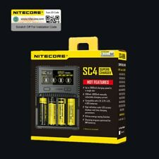 Nitecore SC4 Super Battery Charger 3A 6A 4 Slot 4 lithium 18650 26650 20700