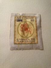 Francobollo Italia 1966 Giornata del francobollo varietà non dentellata nuovo