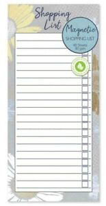 Magnetic Meal Planner & Tear Off Shopping List Note Pad Spring Design 80 s