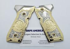 Beretta Model 92 96FS Full size metal Grips, gold nickel plated