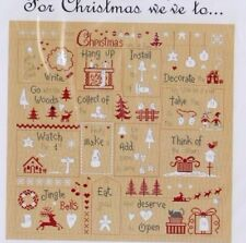 For Christmas - Cross stitch chart & Buttons Advent Calendar - Jardin Prive